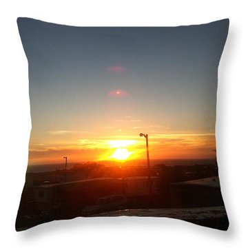 Oregon Blazing Sunset Throw Pillow