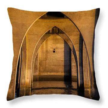 Oregon Bridge 1 Throw Pillow