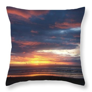 Oregon Coast 11 Throw Pillow