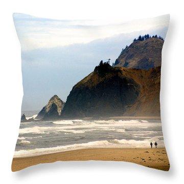 Oregon Coast 12 Throw Pillow by Marty Koch