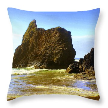 Oregon Coast 13 Throw Pillow by Marty Koch