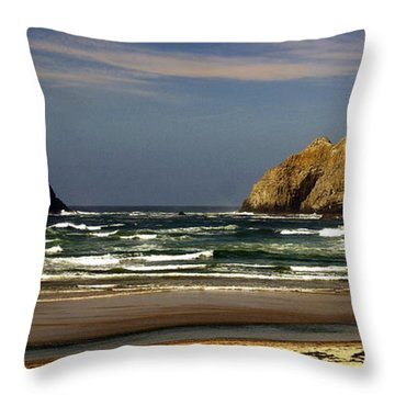 Oregon Coast 14 Throw Pillow by Marty Koch
