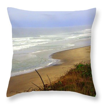 Oregon Coast 3 Throw Pillow by Marty Koch