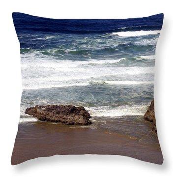 Oregon Coast 6 Throw Pillow by Marty Koch