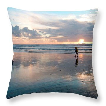 Oregon Coast 7 Throw Pillow
