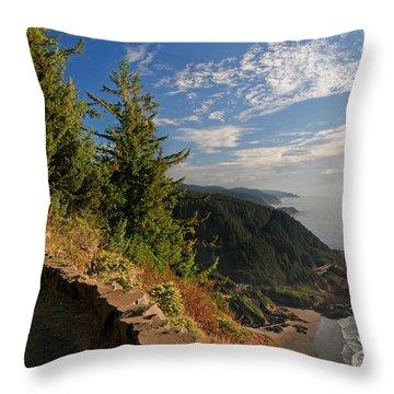 Throw Pillow featuring the photograph Oregon Coast Cape Perpetua View by Lara Ellis