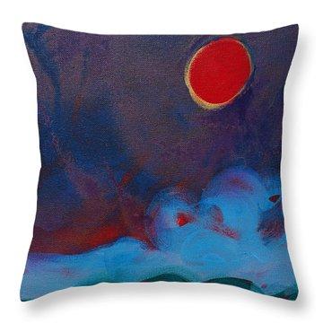 Oregon Coast Eclipse Throw Pillow