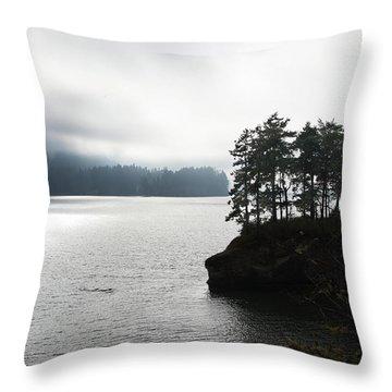Oregon Coast Fog Throw Pillow
