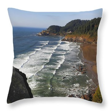 Oregon Coast No 1 Throw Pillow