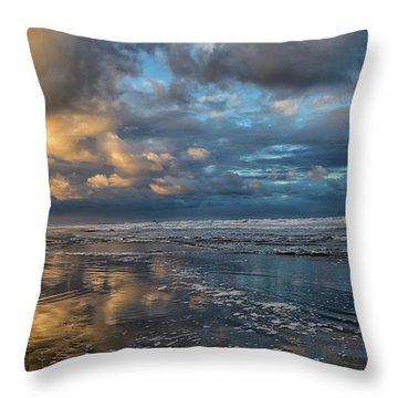 Oregon Coast Reflections Throw Pillow
