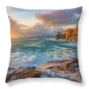 Throw Pillow featuring the photograph Oregon Coast Wonder by Darren White