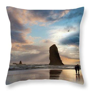 Oregon Coastine Throw Pillow