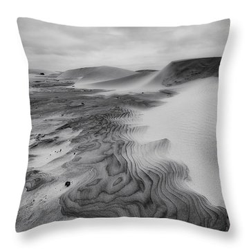 Throw Pillow featuring the photograph Oregon Dune Wasteland 2 by Ryan Manuel