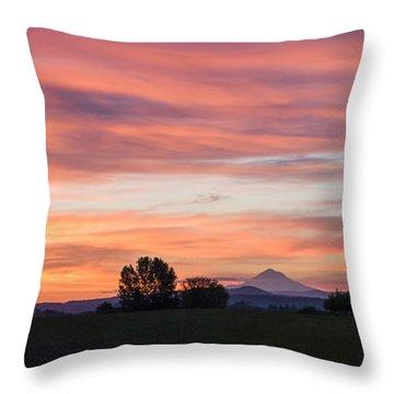 Oregon Sunrise Throw Pillow