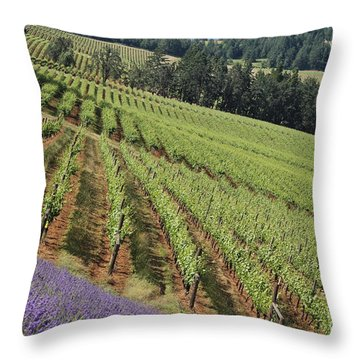 Oregon Vineyard Throw Pillow