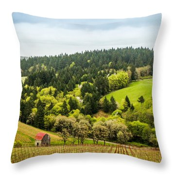 Oregon Wine Country Throw Pillow