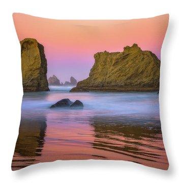 Oregon's New Day Throw Pillow by Darren White
