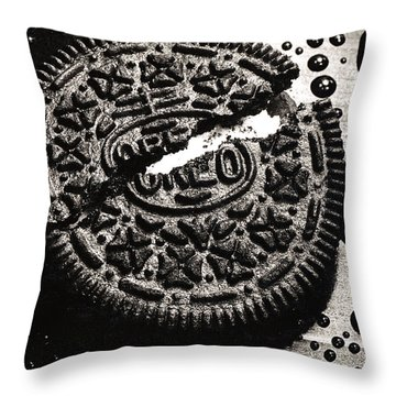 Oreo Cookie Throw Pillow by Nancy Mueller