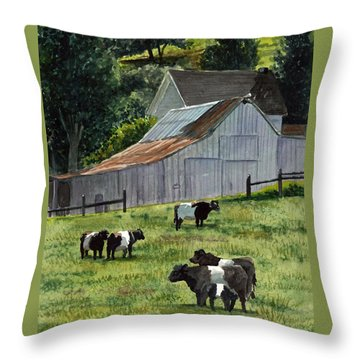 Oreo Cows In Napa Throw Pillow by Gail Chandler