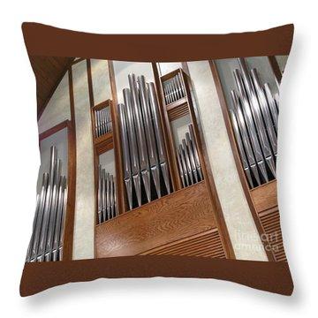 Organ Pipes Throw Pillow by Ann Horn