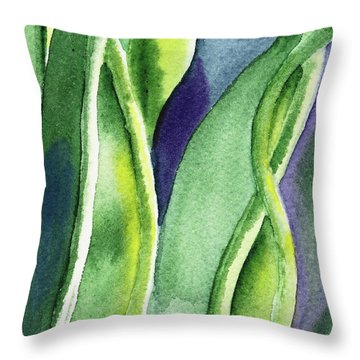 Organic Abstract By Nature II Throw Pillow