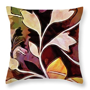 Organic Autumn Throw Pillow