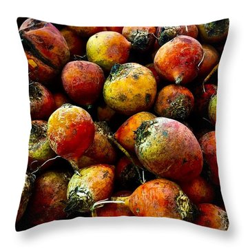 Organic Beets Throw Pillow