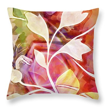 Organic Colors Throw Pillow
