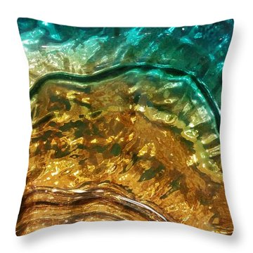 Organic Flow Throw Pillow