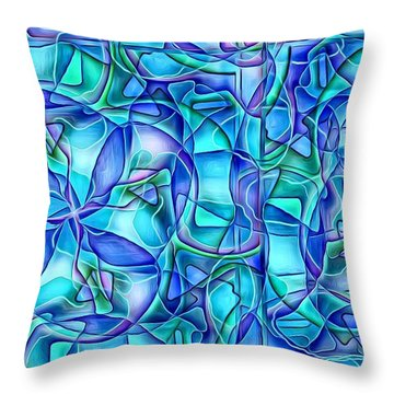 Throw Pillow featuring the digital art Organic In Square by Ron Bissett