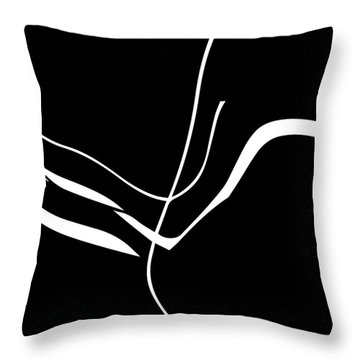 Organic No. 8 White On Black Minimalism Throw Pillow