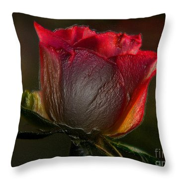 Organic Rose Throw Pillow