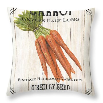 Organic Seed Packet 2 Throw Pillow