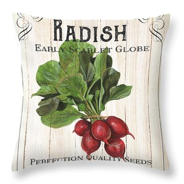 Throw Pillow featuring the painting Organic Seed Packet 3 by Debbie DeWitt
