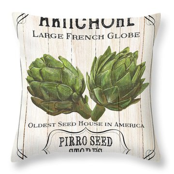 Organic Seed Packets 1 Throw Pillow