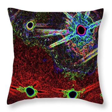 Organized Chaos Throw Pillow by Bruce Iorio