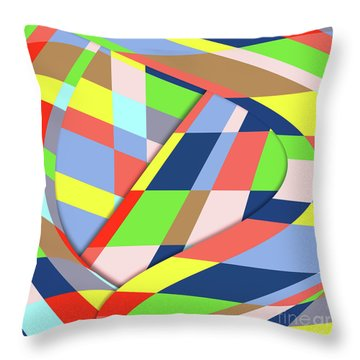 Throw Pillow featuring the digital art Organized Cubic Chaos by Bruce Stanfield