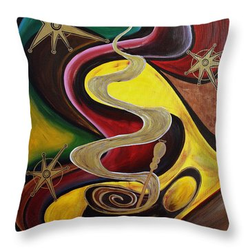 Organo Gold Throw Pillow
