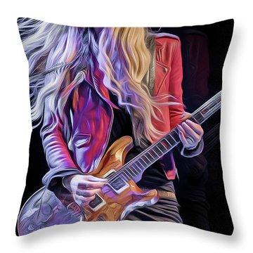 Orianthi Throw Pillow