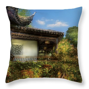 Orient - A Place To Pray  Throw Pillow by Mike Savad