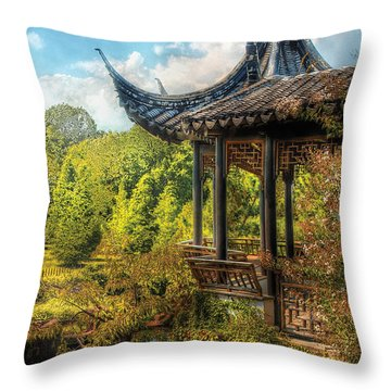 Orient - From A Chinese Fairytale Throw Pillow by Mike Savad