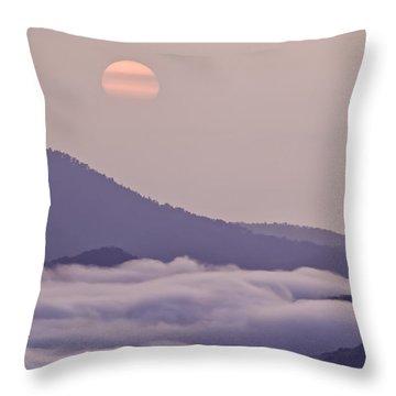 Oriental Blue Ridge Sunrise Throw Pillow by Rob Travis