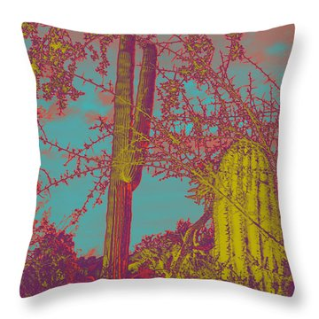 Oriental Colors Of Arizona Throw Pillow