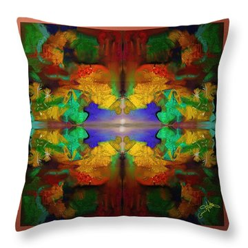 Oriental Gardens  Throw Pillow