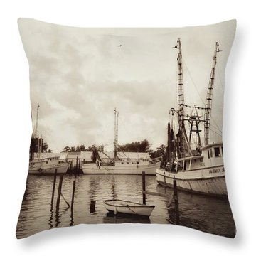Throw Pillow featuring the photograph Oriental Harbor by Benanne Stiens