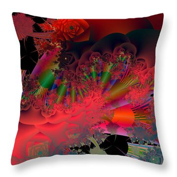 Oriental Inspired Throw Pillow