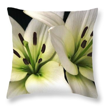 Oriental Lily Named Endless Love Throw Pillow by J McCombie