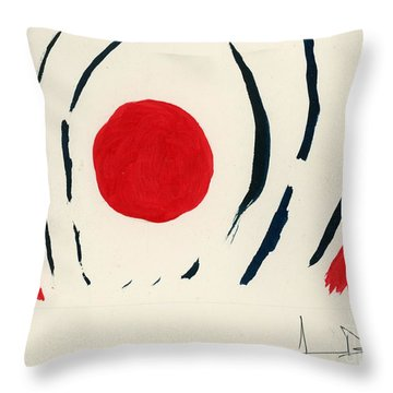 Oriental Sun Throw Pillow