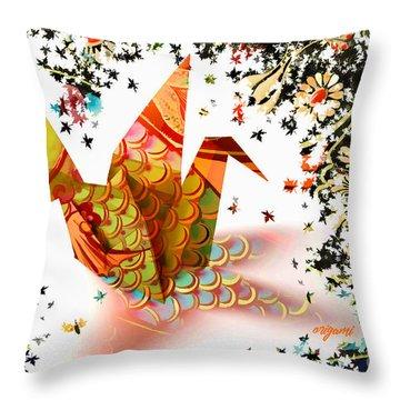 Origami 2017 Throw Pillow