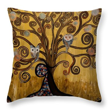 Original Acrylic Artwork By Mimi Stirn - Hoomasters Collection -hooklimt #414 Throw Pillow